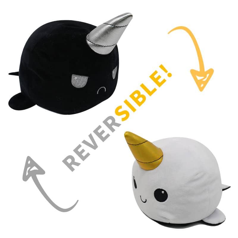 Reversible Mood Sea Lion Plush Toy