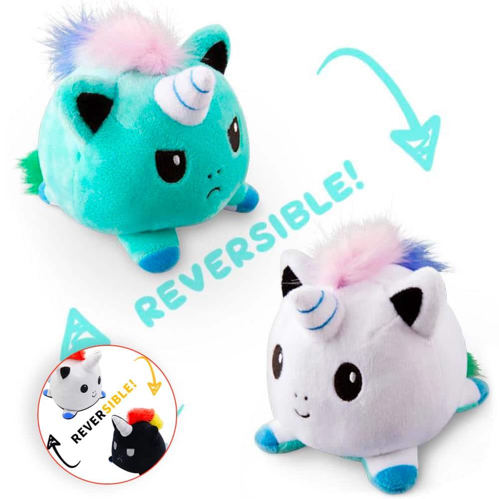 Reversible Emotional Unicorn Plush Toy