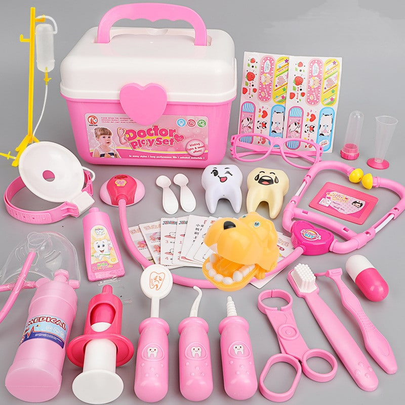 Pink Medical Kit Doctor Play Set