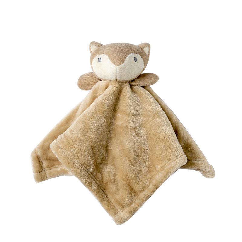 Baby Multifunctional Teether Comforting Towel Brown Fox