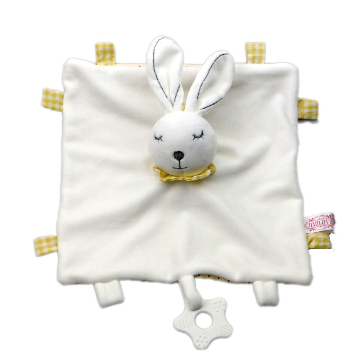 Baby Multifunctional Teether Comforting Towel White Rabbit