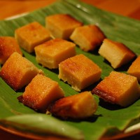 "Recipes - Kueh Ubi Bingka/ Cassava Cake/ Tapioca Cake/ ""Heehee it looks like Roast Pork"" cake (for Nick and Claire)"