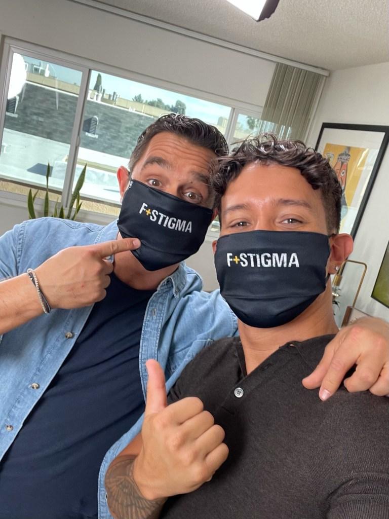 Raif and Karl wear the masks!