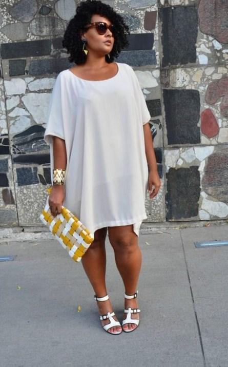 Wedding White Chevron Dress