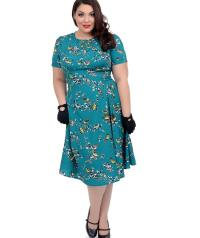 Plus size teal dress