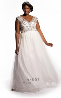 White plus size prom dress - PlusLook.eu Collection
