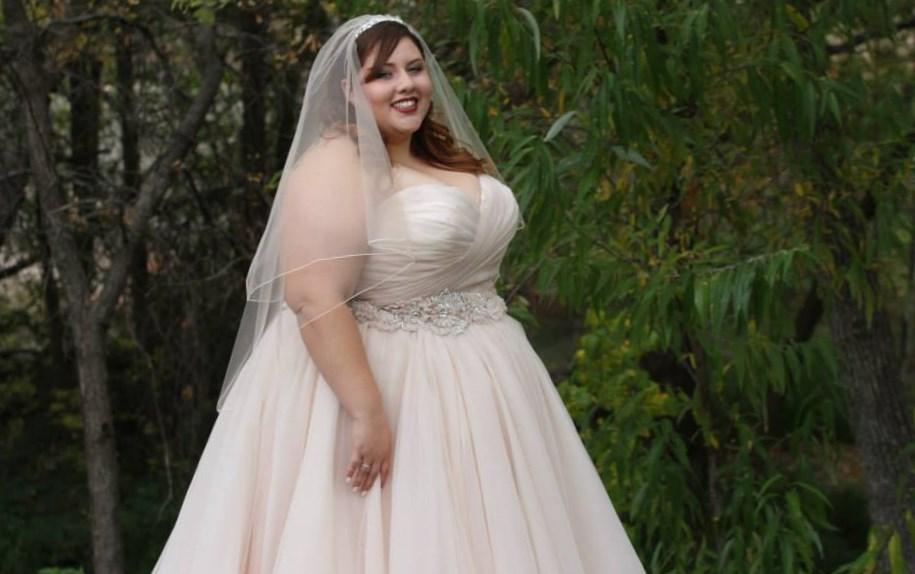 Plus Size Wedding Dress With Color