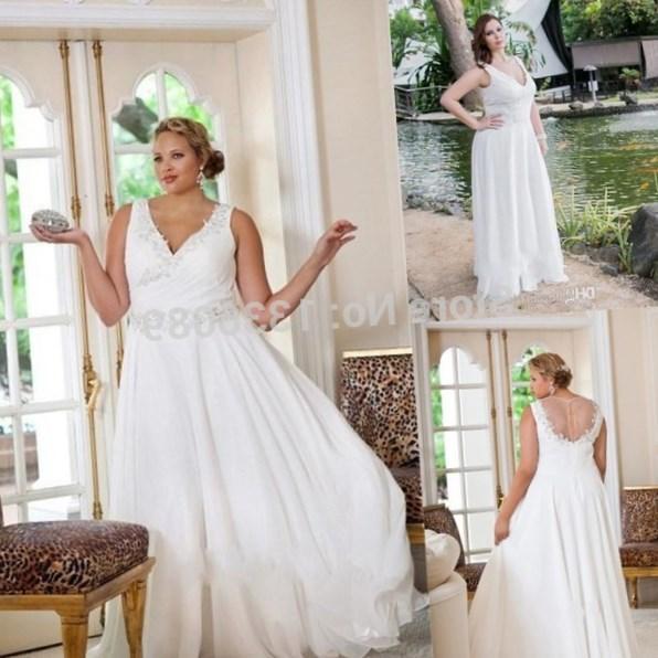 Plus size flowing dresses