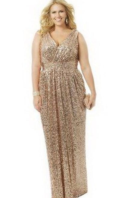 Size Gold Formal Plus Dresses