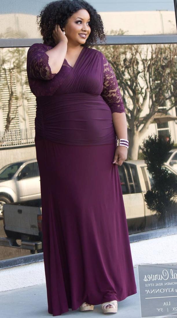 Plus size bridesmaid dresses purple