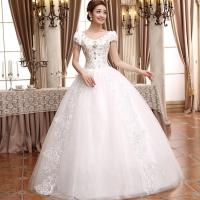 Plus size ball gown wedding dress
