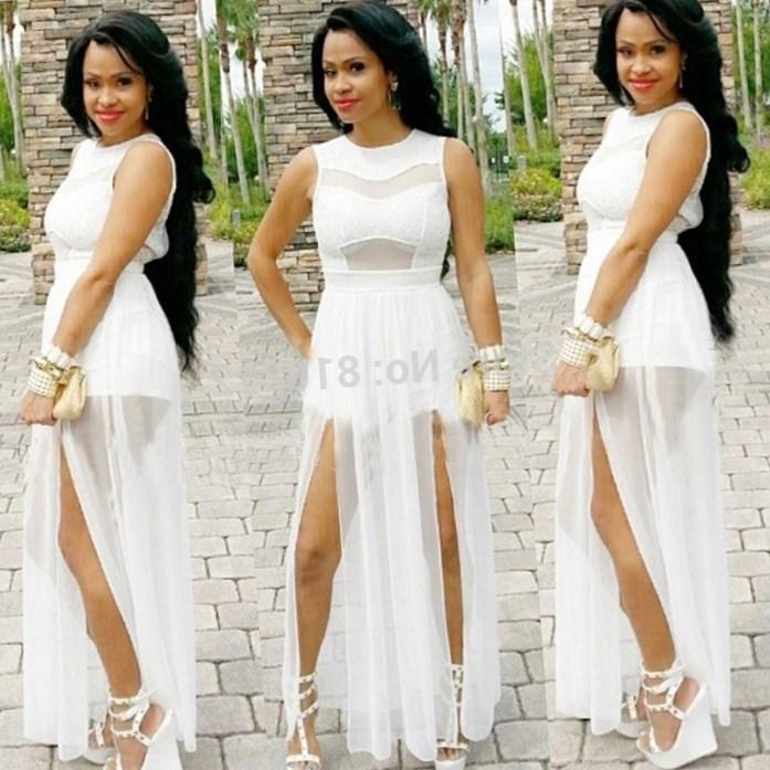 All white maxi dress plus size