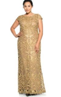 Gold plus size bridesmaid dresses - PlusLook.eu Collection