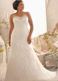 Plus size strapless wedding dresses - PlusLook.eu Collection