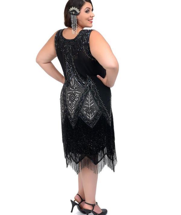 Flapper Size Dress - Pluslook.eu Collection