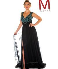 V neck plus size dress - PlusLook.eu Collection