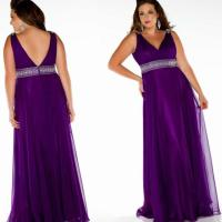 Plus size bridesmaid dresses purple - PlusLook.eu Collection