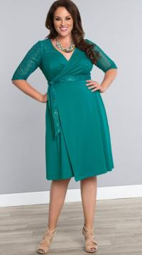 Teal plus size dresses