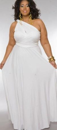 Plus size sexy white dresses - PlusLook.eu Collection