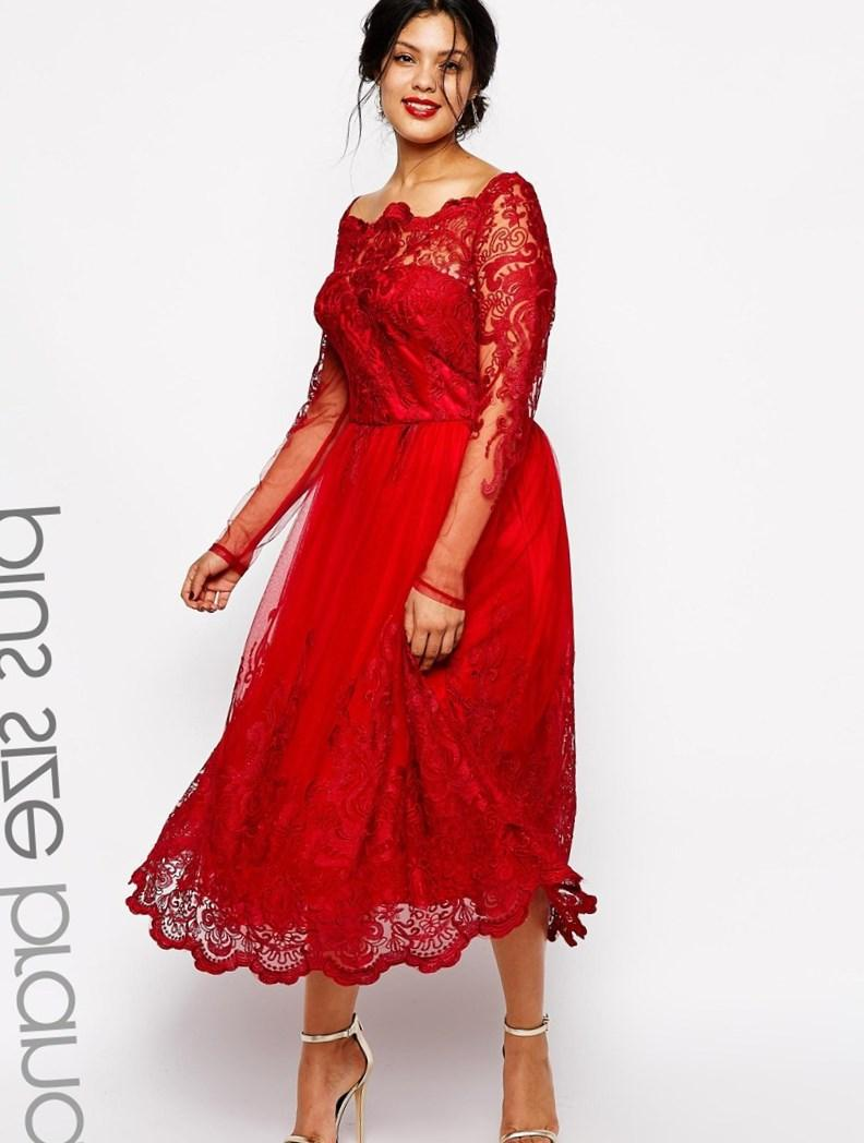 Red party dresses plus size  PlusLookeu Collection