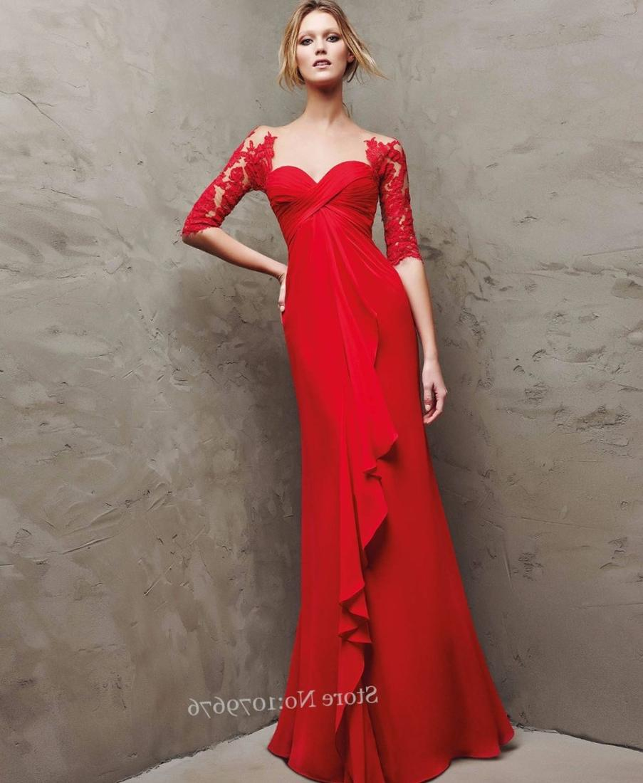 Long red plus size dresses  PlusLookeu Collection