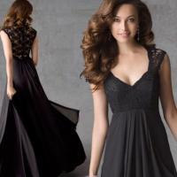 Long plus size black dresses