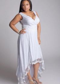 White plus size club dress