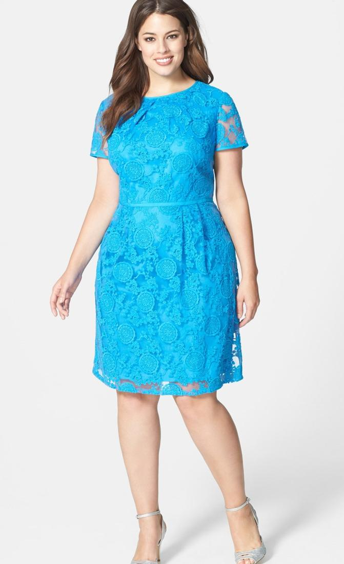 Plus size teal dress