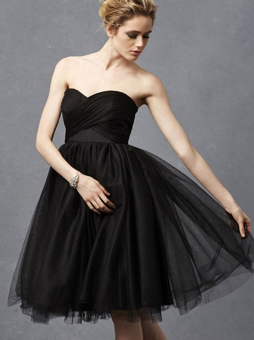 Black Long Sleeve Prom Dresses