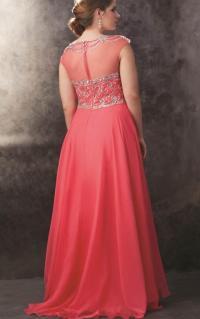 Plus size coral bridesmaid dresses - PlusLook.eu Collection