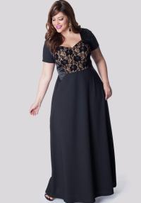 Plus size black dresses evening