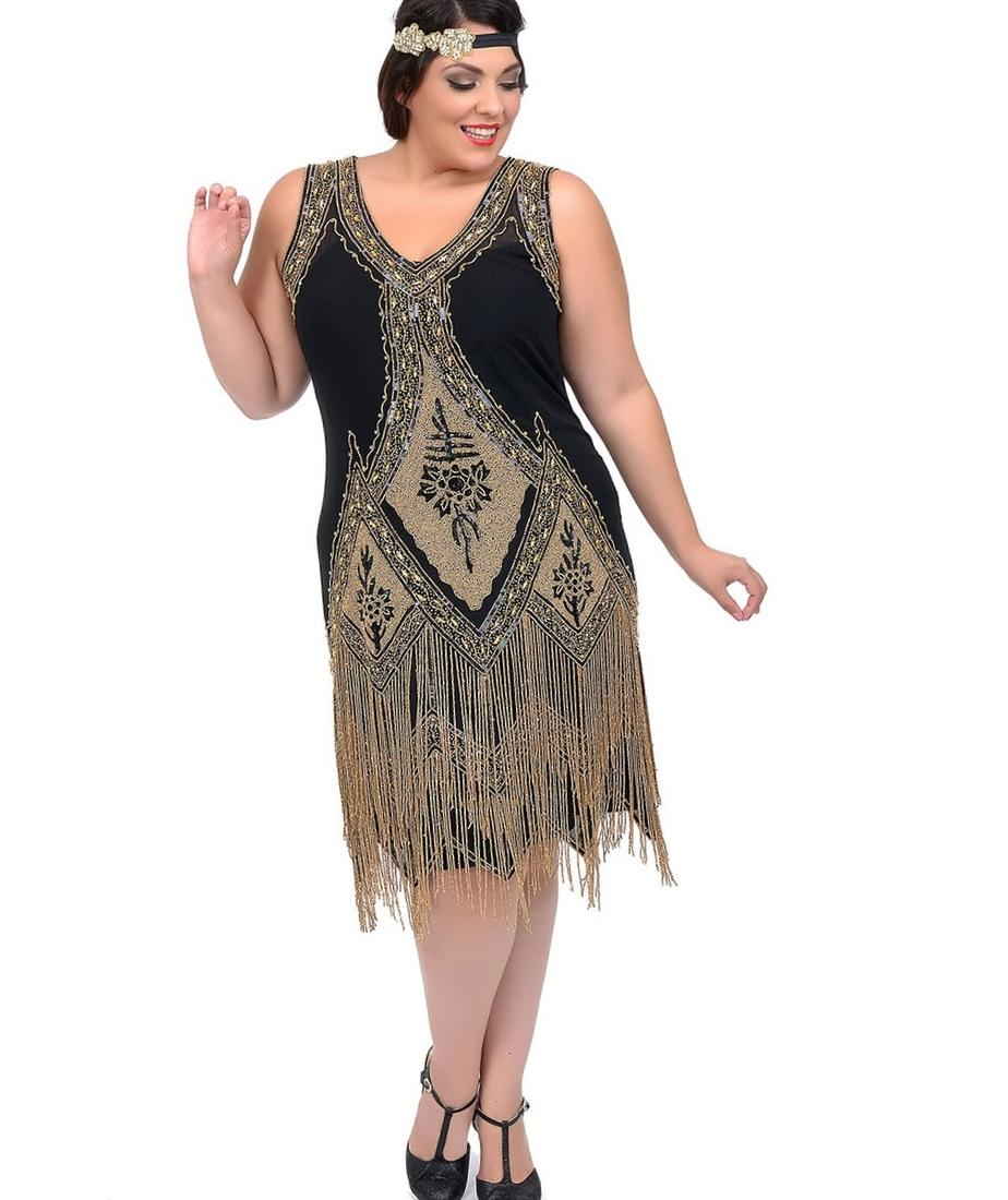 Flapper plus size dress - PlusLook.eu Collection