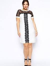 Plus size white casual dress - PlusLook.eu Collection