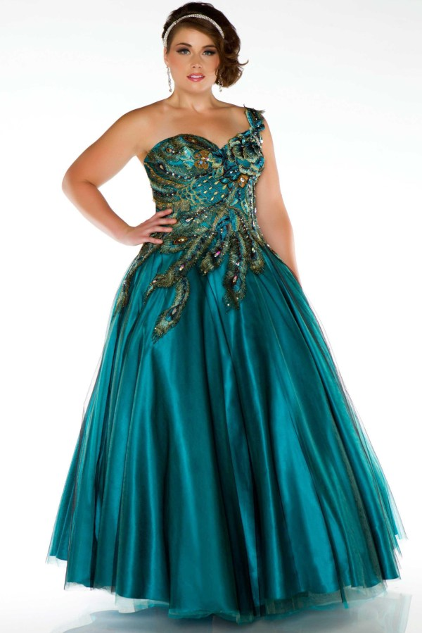 Size Peacock Dress - Pluslook.eu Collection