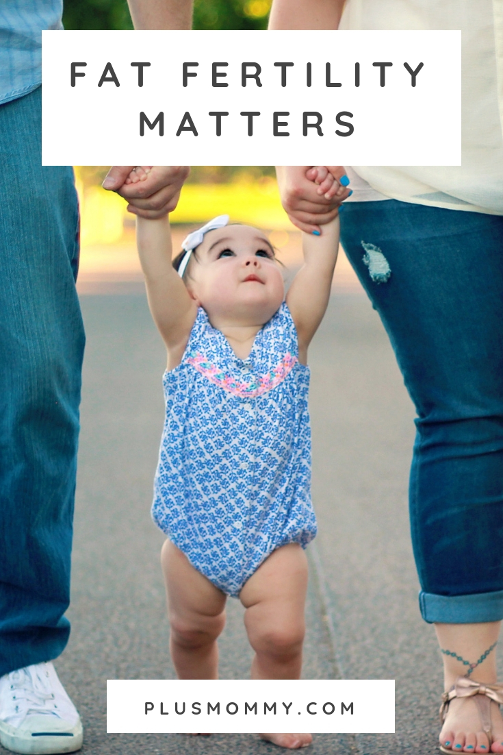 plus size parents and baby - fat fertility matters