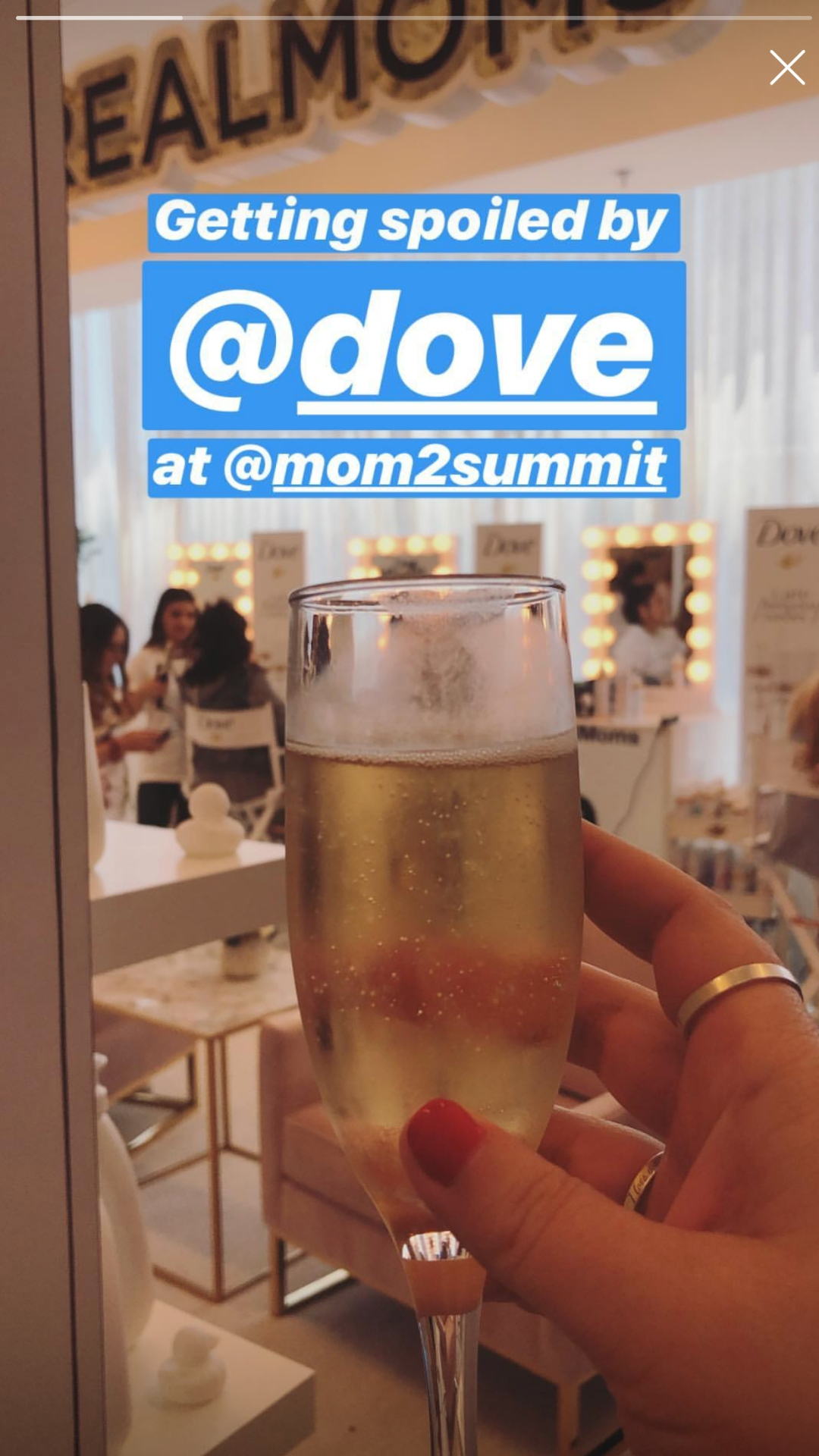 Dove pamper room at the mom2.0 conference