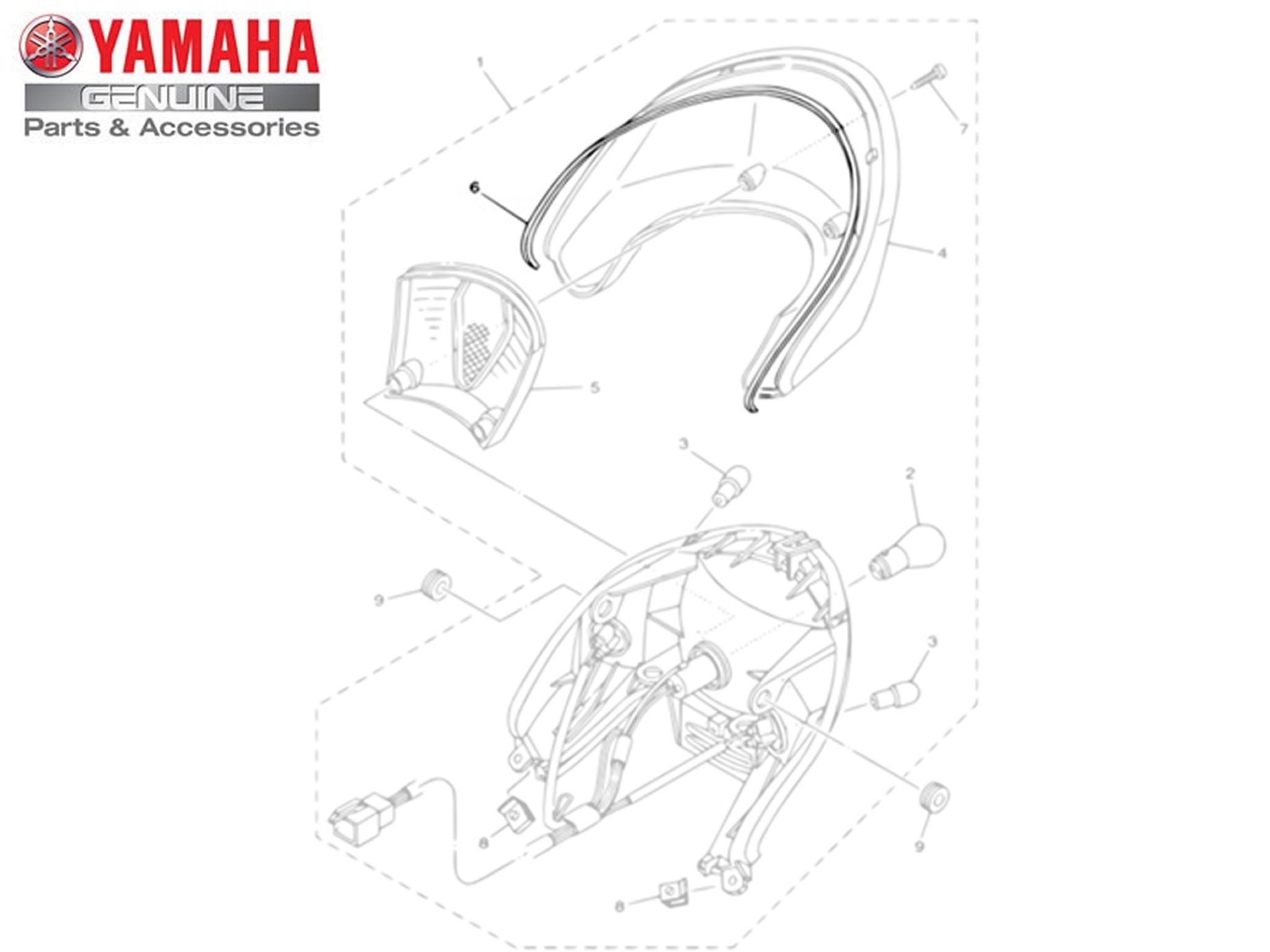 Gaxeta da Lanterna Traseira para Yamaha NEO AT 115 de 2008