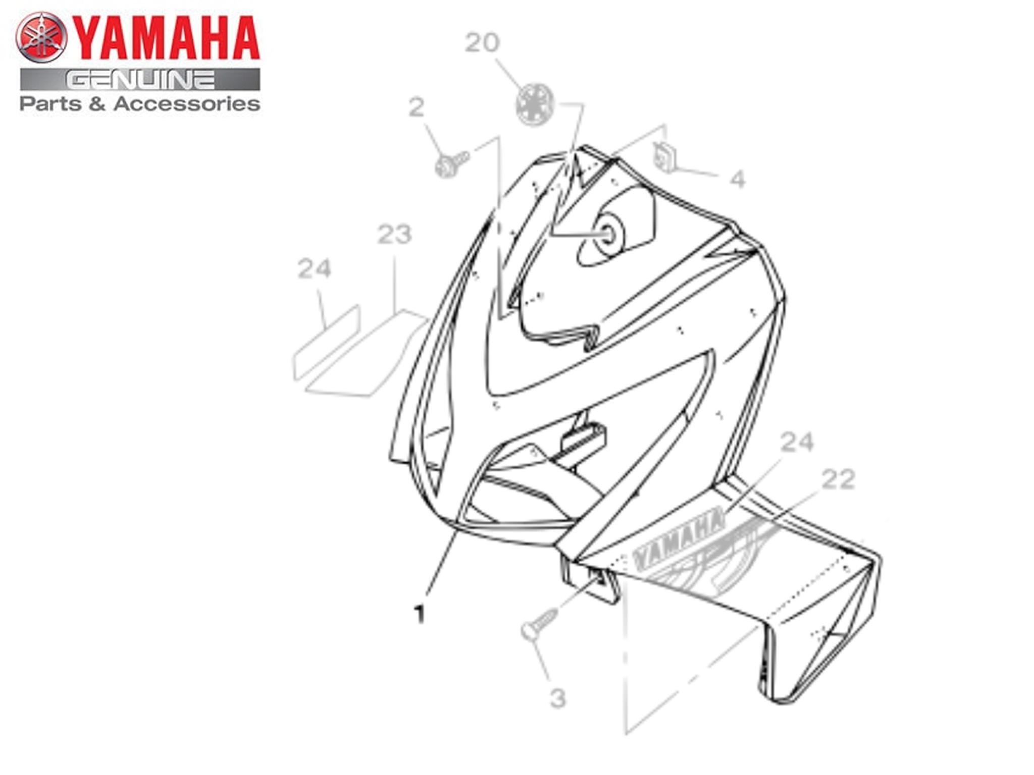 Protetor de Pernas Carenagem para Yamaha NEO AT 115 2008