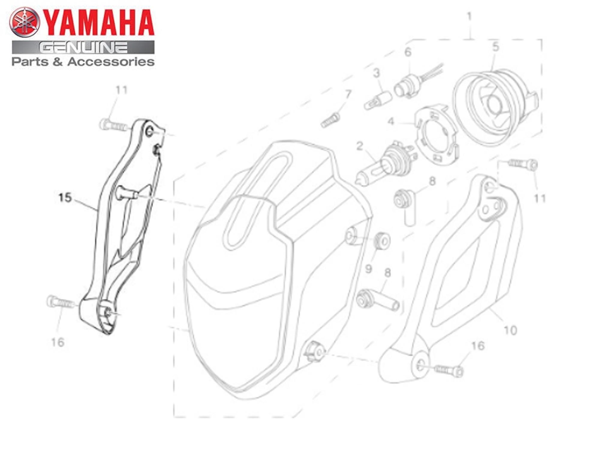 Suporte do Farol Dianteiro 2 para Yamaha MT 03 Original