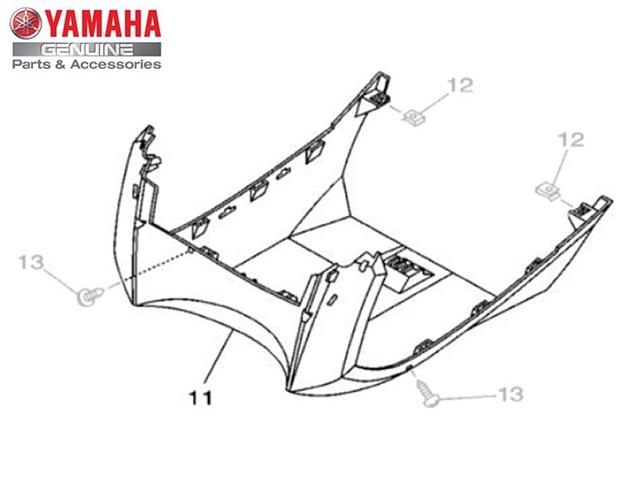 Tampa Inferior do Protetor de Pernas para Yamaha NEO
