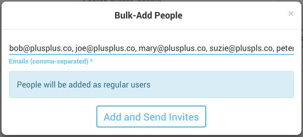Bulk Add People