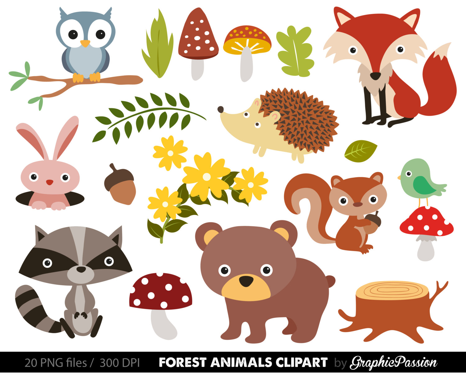 hight resolution of free woodland animal clipart for kids animal png hd for kids