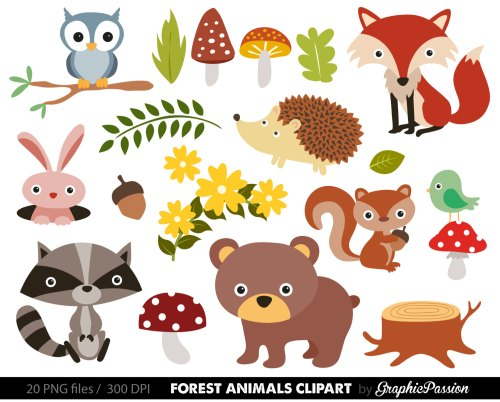 small resolution of free woodland animal clipart for kids animal png hd for kids