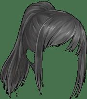 anime hair transparent