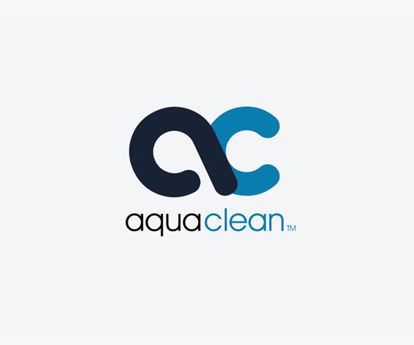 aqua cleaning logo vector