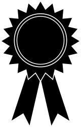 award ribbon clipart outline clip icon vector awards cliparts printable transparent reward library cut file pluspng nook craft