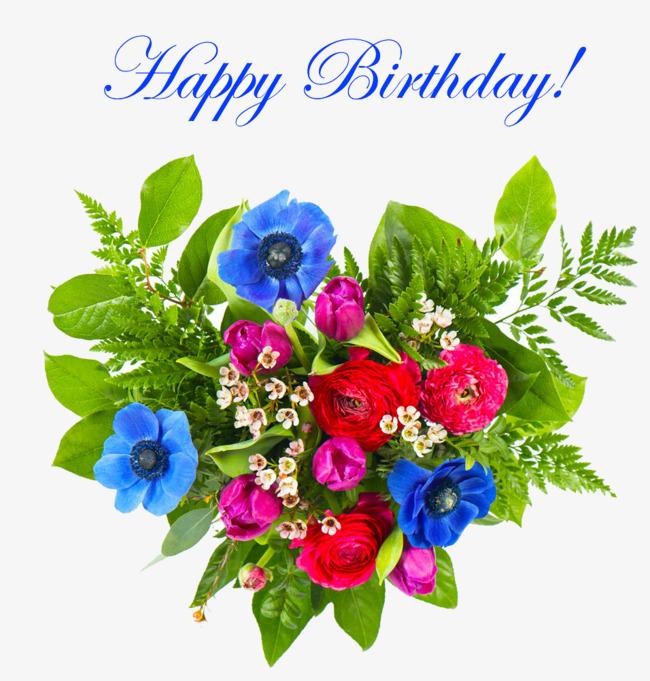 birthday flowers png hd
