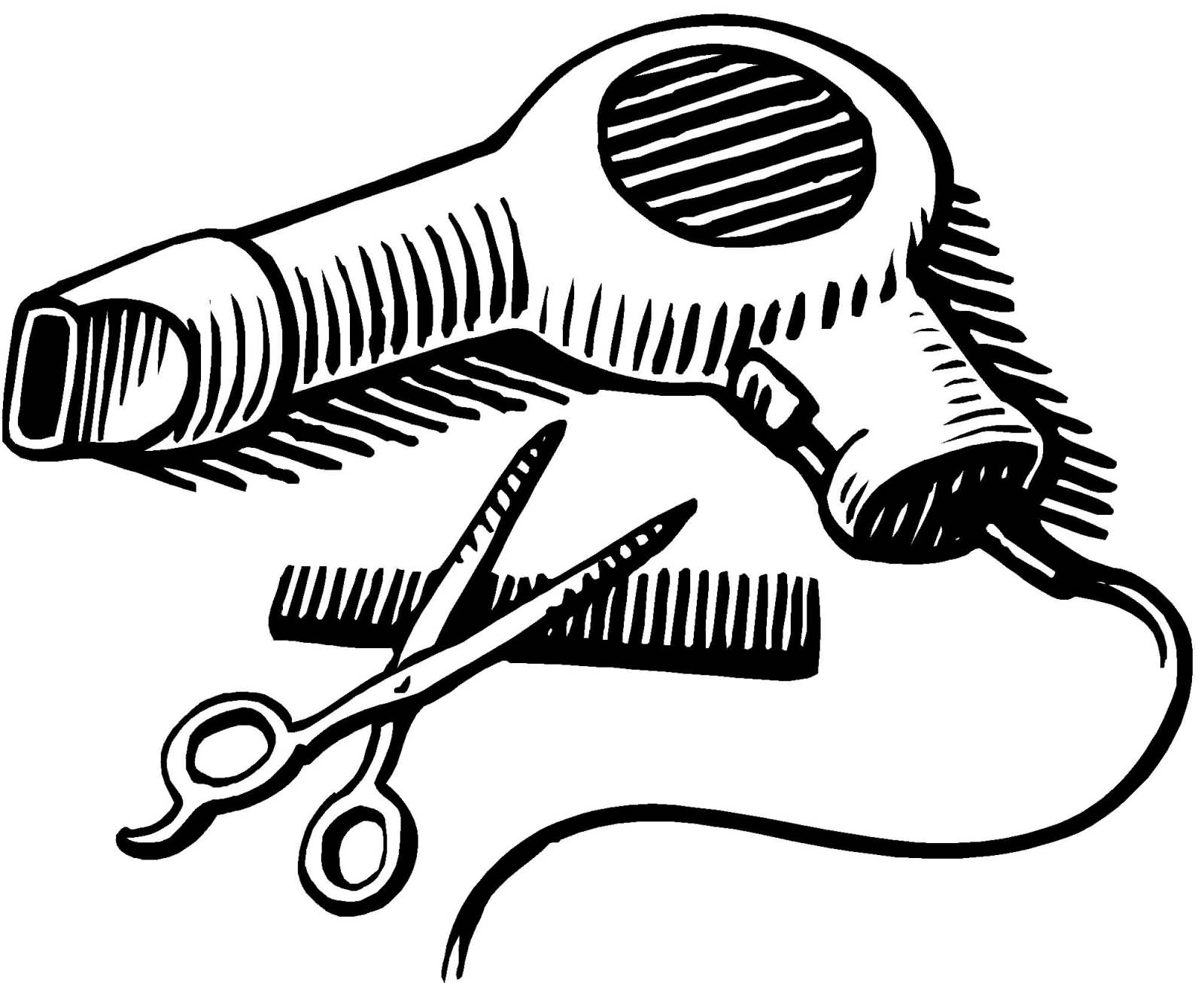 hight resolution of blow dryer and scissors clipart clipart blow dryer and scissors png