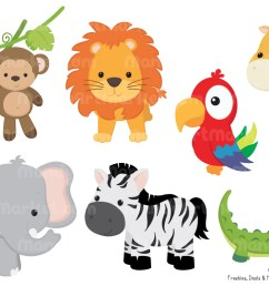 1160x772 animals in the jungle clipart cute baby zoo animals png [ 1160 x 772 Pixel ]