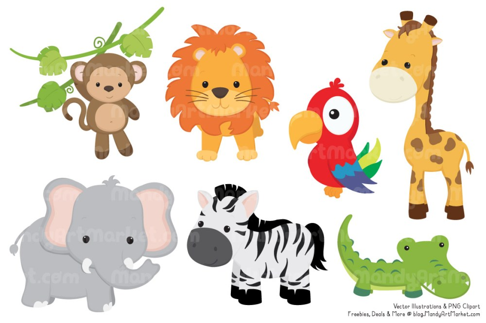 medium resolution of 1160x772 animals in the jungle clipart cute baby zoo animals png